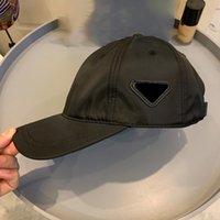 Monterade Baseball Caps för män Kvinnor Sport Fan Ball Cap Classic Inverterad Triangle Metal Side Logo Med brev Sommar Fashion Justerbar Storlek Toppkvalitet