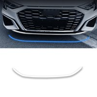 CarMango for Audi A3 8Y 2020-2021 Hatchback Car Stickers Accessories Front Bumper Trim Cover Pad Sticker Frame Stainless Exterior Decor
