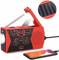Portable Solar Hand Crank Weather FM Radio speaker with flashlight reading light Emergency NOAA charging