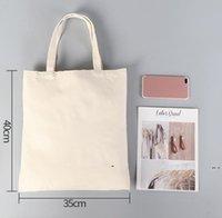 NUOVO fai da te pubblicità Sublimazione Sublimation Borsa in tela Eco-friendly Blank Shopping Borsa da donna Borse in cotone da donna Transfer di calore Stampa EWF7632