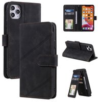 Multi Card Slot Retro Wallet Leather Cases For Iphone 12 mini 11 pro max XR XS 6 7 8 plus Samsung Note 20 S21 Ultra S20 S10 A32 A52 A72 A12 A42 5G Flip Stand Case Pouch Cover