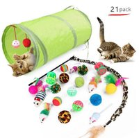Cats Toy Tunnels With Cat Teaser Indoor Foldable Cat Tent Drill Hole Game Pipe Pets Supplies Kitten Puppy Toys Gadgets