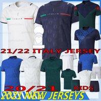 Thaï 21/22 Italie Jersey de football Jorginho Barella Insigne Bonucci Bernardeschi 20/21 Coupe d'Europe Chiellini Immobile Belotti Shirts Football Homme Kids Kits Uniformes