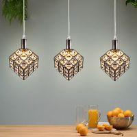 K9 Crystal Ceiling Lights Chandelier LED Pendant Lamp 110-240V Modern Indoor Lightings Hanging Lighting for Dining Living Bedroom Room