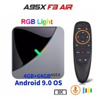A95X F3 Air 8K Android 9.0 TV Box Amlogic S905X3 4G 32G 64G RGB Light Media Player H96 Max