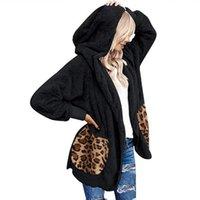 Women's Hoodies & Sweatshirts Women Coat Fashion Patchwork Cardigan Hoodie Jacket With Hat Comfy Lady