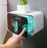 Toilet Paper Holders Bathroom Holder Wall Mounted Tissue Box Shelf Waterproof Roll Storage Accessories