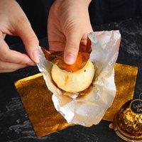 novo 1 conjunto = 50 pcs ouro folha de alumínio doce chocolate cookie envoltando papel festa diy metal gravando presente embalagem embalagem papel de embarque EWF7688