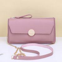 Wallets 2021 Ladies Mobile Wallet Large Capacity Long Clutch Zipper Crossbody Shoulder Bag