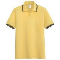 2021 الصيف القطن الخالص بولو لكرة القدم جيرسي التلبيب يتناقض لون كرة القدم قميص عارضة الرجال قصيرة الأكمام