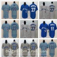 2020 homens azuis mulheres crianças jays 99 hyun-jin ryu 27 vladimir guerrero jr. 11 bo bichette edição de ouro novo jersey rápido