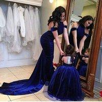 Adorable Royal Blue Blume Mädchen Kleid Halfter Baby Mädchen Pageant Kleider Prinzessin Ballkleid Kinder Hochzeitskleider