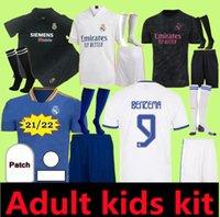 성인 어린이 21 02 03 레알 마드리드 축구 유니폼 키트 2021 Sergio Ramos Hazard Jovic Vinicius Benzema Modric Football Shirts 자식 유니폼