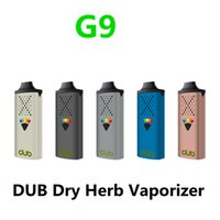DUB Erva seca Herb Starter Kit G9 Vaping Dispositivo Vape Pens Portátil E-cigarro Kits Bateria 1100mAh Tipo-C Tipo-C Cabo USB HapticFeedback com ferramenta de embalagem
