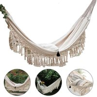 Camping Hammock Boho Style Portable Double Net Swing Chair Indoor Hanging Swing Outdoor Furniture