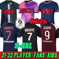 باريس لكرة القدم الفانيلة الرجعية 2019 2020 2021 2022 مايلوتس دي القدم MBAPPE ICARDI 19 20 21 22 سرابيا الكلاسيكية خمر لكرة القدم قميص كافاني رجل المنزل بعيدا الثالثة S-4XL