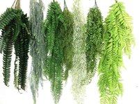 Decorative Flowers & Wreaths Hanging Plants Artificial Greenery Fern Grass Green Wall Plant Silk Air Pine Needle