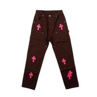 Chome Heart Ch Crosin Cross Jeans Allentato Atmosfera dritta Hip Hop Travis Scott Pantaloni da uomo