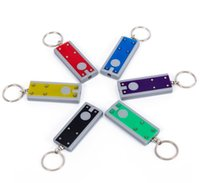 1200pcs Party Favor LED Keychain Light Box-type Key Chain Light-Key Ring LEDs advertising promotional creative gifts small flashlight Keychains Lights SN5748