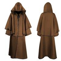 Mittelalterliche 5 Farben Mantel Halloween Mit Kapuze Robe Mönch Robe Mantel Langarm Wizard Assistent Death Cloak Hohe Qualität