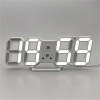 Современный дизайн 3D светодиодные настенные часы современные цифровые будильники отображения дома гостиная офисная таблица стола ночь настенные часы дисплей 601 R2