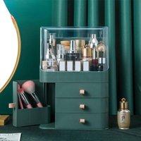 Storage Boxes & Bins Cosmetic Skincare Lipstick Organizer Makeup Box With Dust Cover Organizadores De Maquillaje