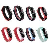 Nylon watch strap Smart Wristbands creative trend boys and girls children sports waterproof LED watchs