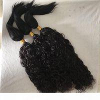 الخام هندي عذراء الشعر ينسج موجة المياه مستقيم جديلة في الشعر البشري حزم لا تشابك fdshine