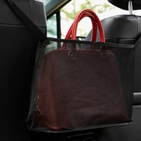 Car Organizer Portable Material Mesh Bag Practical Easy Installatio High Qualtiy Big Capacity Handbag Holder