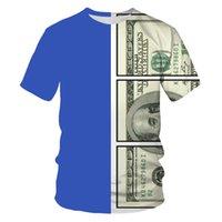 Yaz 2021 Yeni erkek T-shirt 3D Dijital Baskı Yuvarlak Boyun Kısa SleeveExfk
