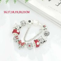 16-21CM 925 silver charms fit for European dragonfly bracelet Bead Accessories DIY Wedding Jewelry with gift box for girl Christmas trinkets