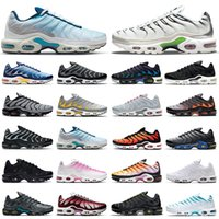 high quality tn plus running shoes men women Black White Pink Psychic Blue Fury Digital Camo Orange Gradient Grey Neon Green outdoor sports trainers sneakers mens