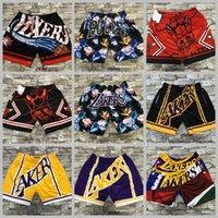Mitchell ve Ness Basketbol Şort Spor Giyim ile Cebiyle Big Yüz Takımı Sweatpants Erkekler Moda Stil Örgü Retro Kaliteli