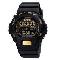 Mens Digital Sport Watch Skmei Открытый военный часы Водонепроницаемый Роскошный Хроновый Женщины Электронные наручные часы Relogio Masculino