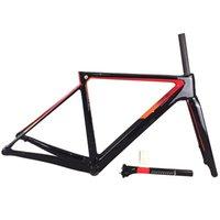 أسود أحمر القرص V3RS إطار الطريق T1100 UD الكربون الطريق دراجة إطارات دراجة إطارات مع شوكة + seatpost + سماعة + المشبك مفهوم C64