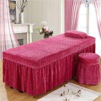 시트는 고품질의 뷰티 살롱 Bedspread 크리스탈 벨벳 베이비 싱글 침대 치마 바디 마사지 시트를 설정합니다.