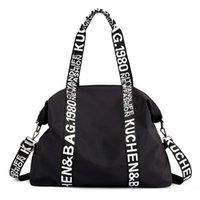 Qehiie outdoor große kapazität nylon reisen lässig frauen brief handtaschen totes damen umhängetasche weibliche taschen