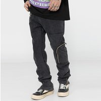 Men's Jeans Harajuku Zipper Pockets Ankle Washed Pants For Men And Women Straight Retro Casual Baggy Denim Trousers Oversize