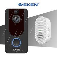 Eken V7 1080P Smart Wi-Fi видео Дверной звонок Камера визуальный домофон Chime Night Vision IP-дверь Белл Wireless Домашняя безопасность Уверенность