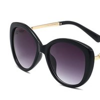 Sommer Perle Oval Designer Sonnenbrille Hohe Qualität Mode Womens Marke Sonnenbrille Metallrahmen Brillen