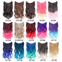 24 Zoll Wellenschlaufe Micro Ring Hair Extensions Bündel Synthetische Fischlinie Schussmix Farbe LFL002