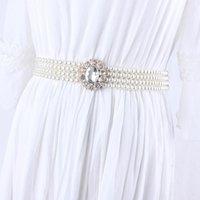 Belts Fashion Sweet Elastic Rhinestone Pearl Waist Chain Belt For Women Dress Korean Wedding Rope Bride Ladies Girls Gifts