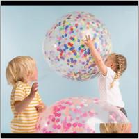 1PSC 36InCH Clear Balloon Latex Confetti Ballon Decoración de la boda Feliz Cumpleaños Globos Suministros de fiesta1 Ghayp IQXSF
