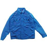 الرجال الملابس قميص جاكيتات topstoney konng gonng الربيع والخريف المعادن النايلون التكنولوجيا الملونة النسيج التلبيب بارد سستة