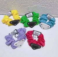 Miúdos Moda Headband Gravata Cabeça Cabelo Corda Crianças Multi-Color Fluorescente Mulheres Anel de Cabelo Menina Sweet Spring Color Acessórios De Cores Brilhantes