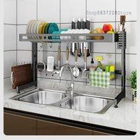 Kitchen Storage & Organization Sink Shelf Faucet Dish Stainless Steel Multi-layer Tableware Drain Rack Countertop