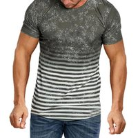 Men's T-Shirts Quick Dry Body Building Short Sleeve Workout Tee Fashion T-shirt With Pleated Raglan Sleeves Cotton Top