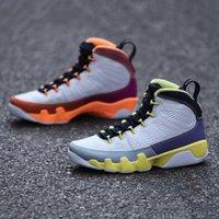 con scatola cambio il mondo 9s mens scarpe da basket bianco deserto bacca guarigione arancione cactus fiore 9 uomini formatori sneakers sportivi cv0420-100