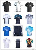 2019 2020 Copa do Mundo Fiji Home Branco Away Black Rugby Jersey Seven Camisa Olímpica 18 19 20 National 7's Rugby Jerseys S-XXXL