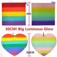 30CM!!! Super Big LUMINOUS Glow in Dark Push Bubble Fidget Toy Decompression Toys Simple Dimple Educational Adult Funny Anti-stress Relief Gift